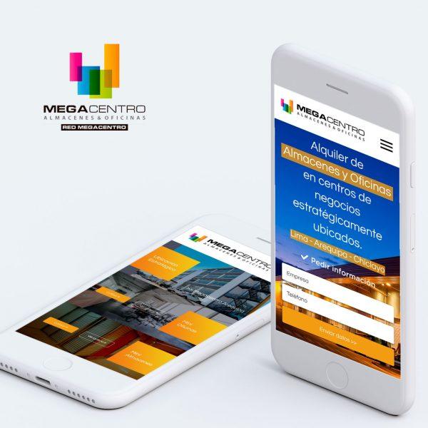 Diseño Web en Arequipa para empresa de alquiler de oficinas y almacenes MEGACENTRO
