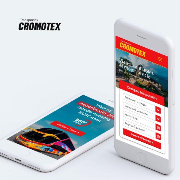 Diseño Web en Arequipa para empresa de transportes CROMOTEX