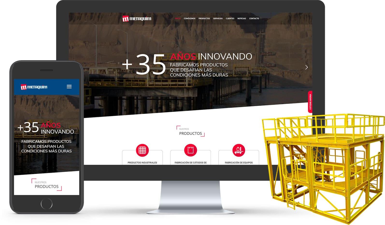 Diseño web Metaquim
