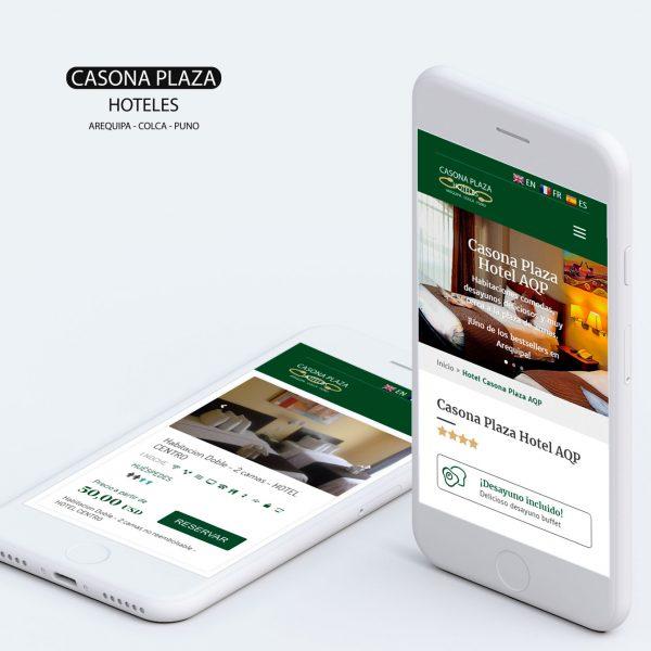 diseño web en arequipa para hoteles casona plaza