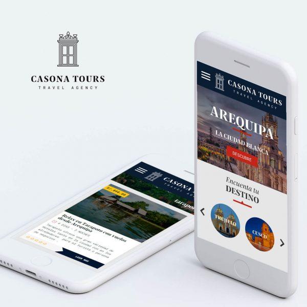 diseño web en arequipa para agencia de viajes casona tours
