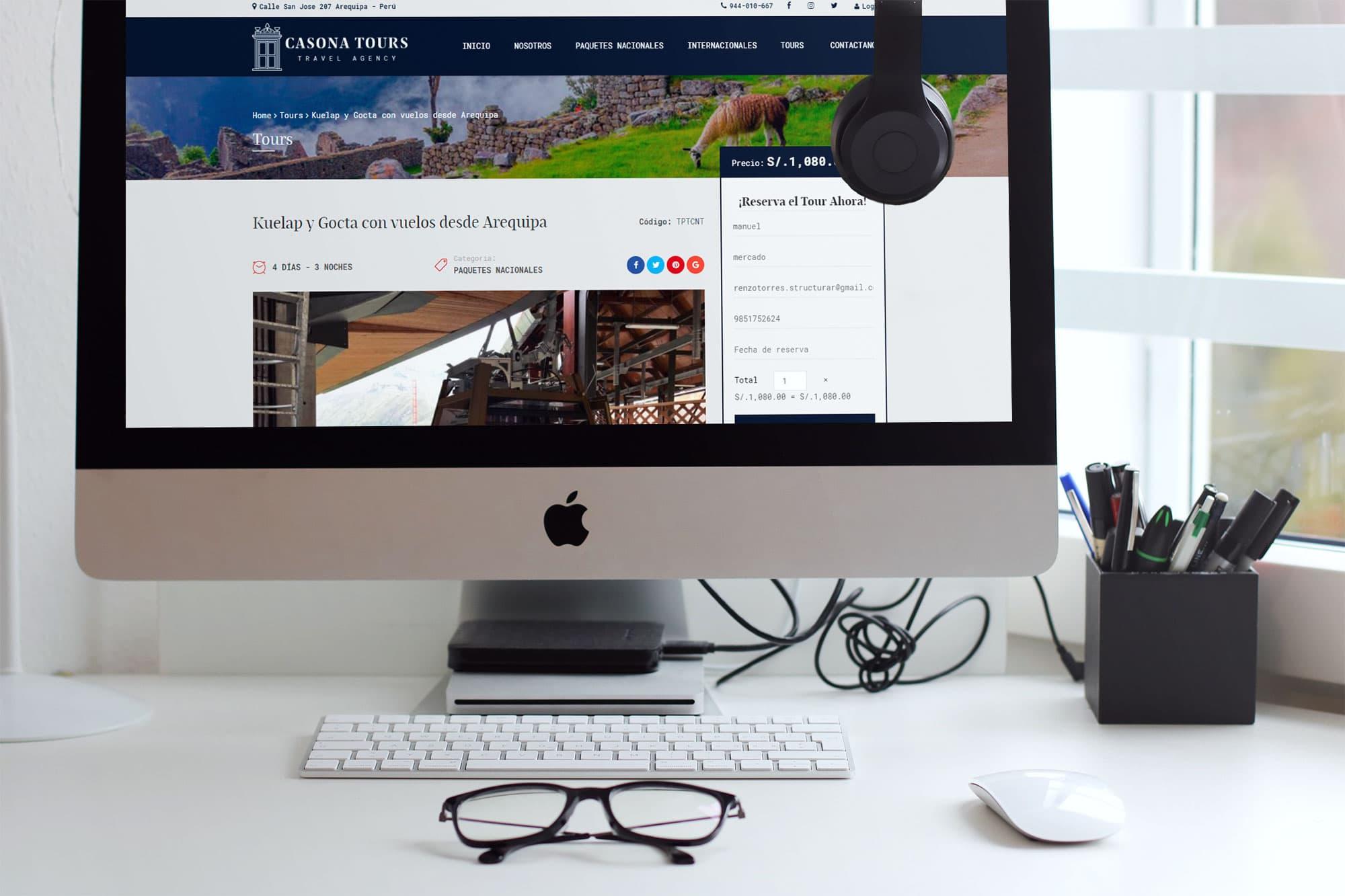 Diseño Web en Arequipa para agencia de viajes