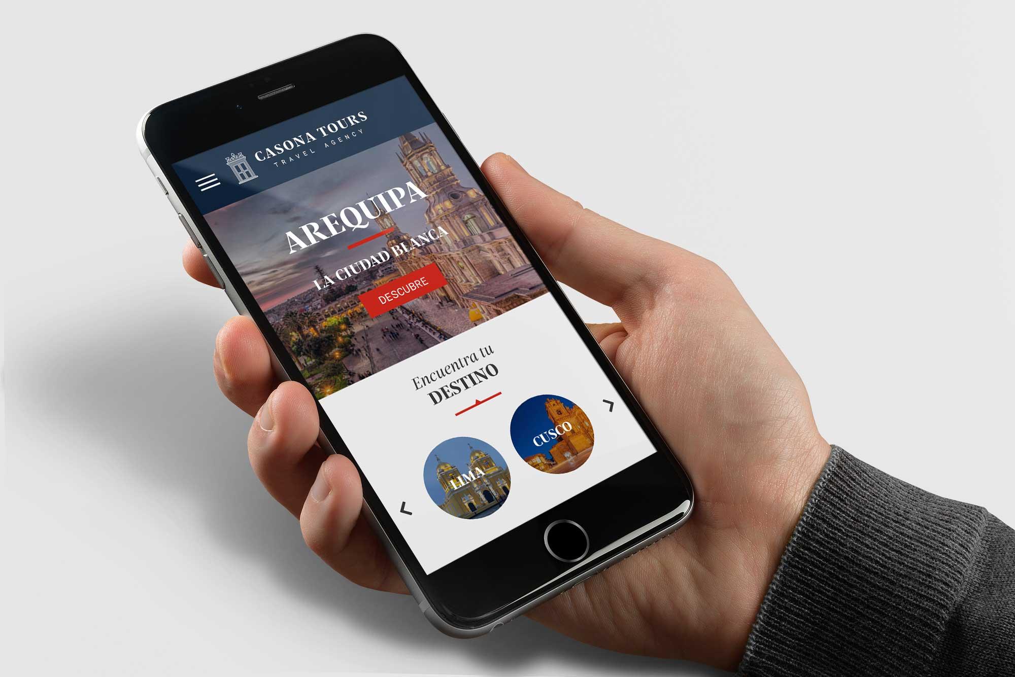 Diseño web en Arequipa para celulares