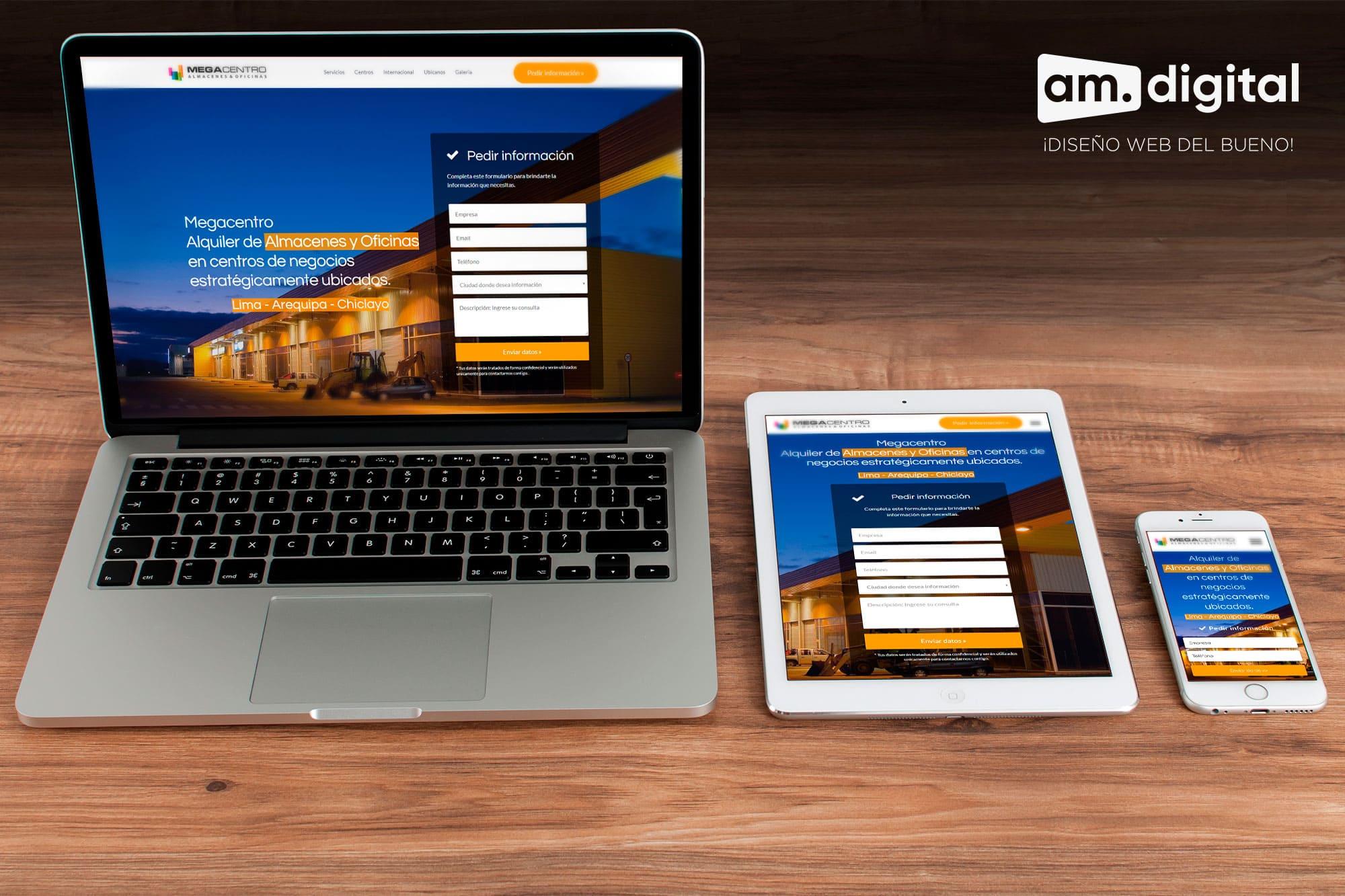 Creación de Página web responsive para megacentro en Arequipa