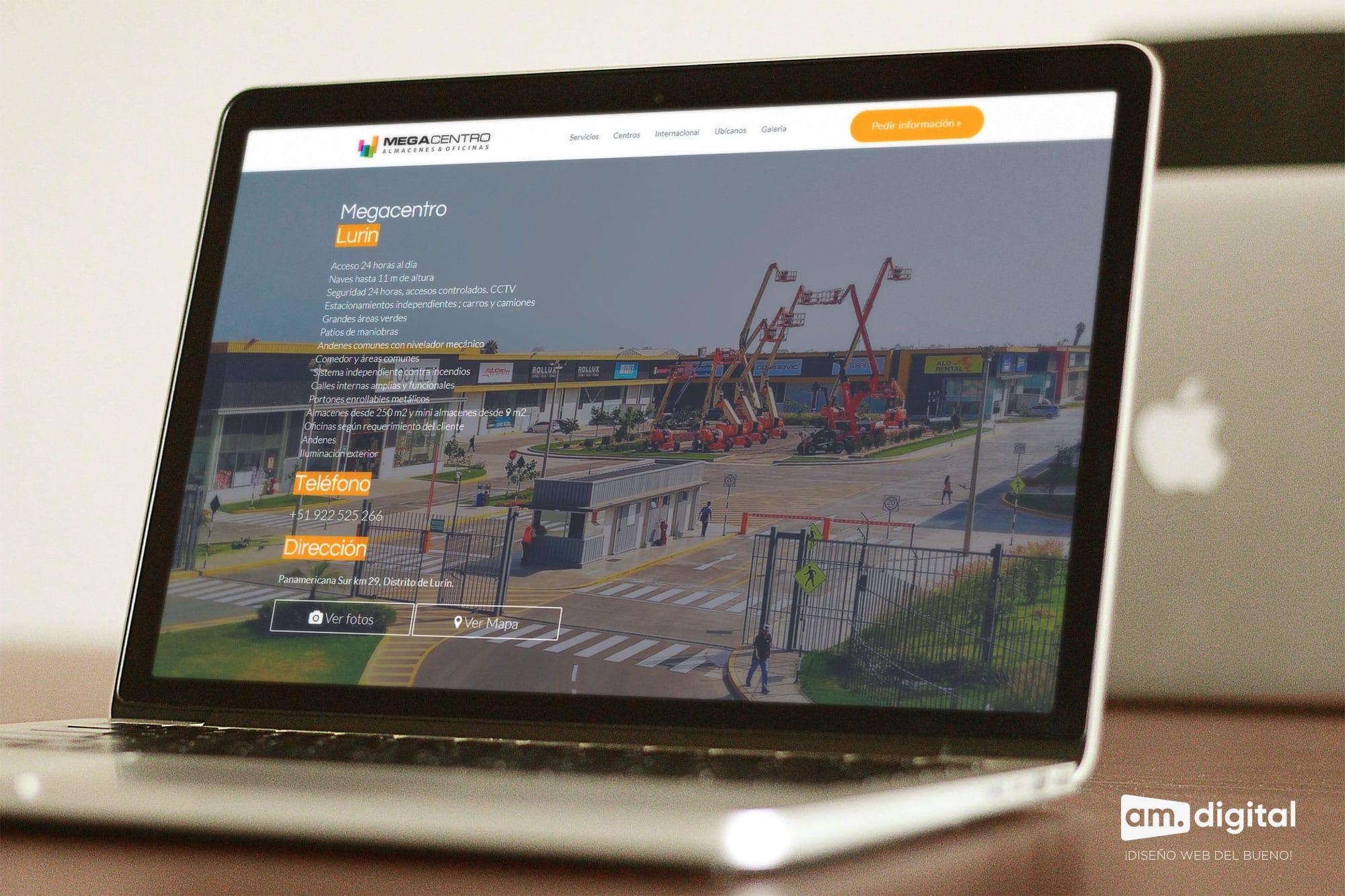 Desarrollo de página web para megacentro en Arequipa
