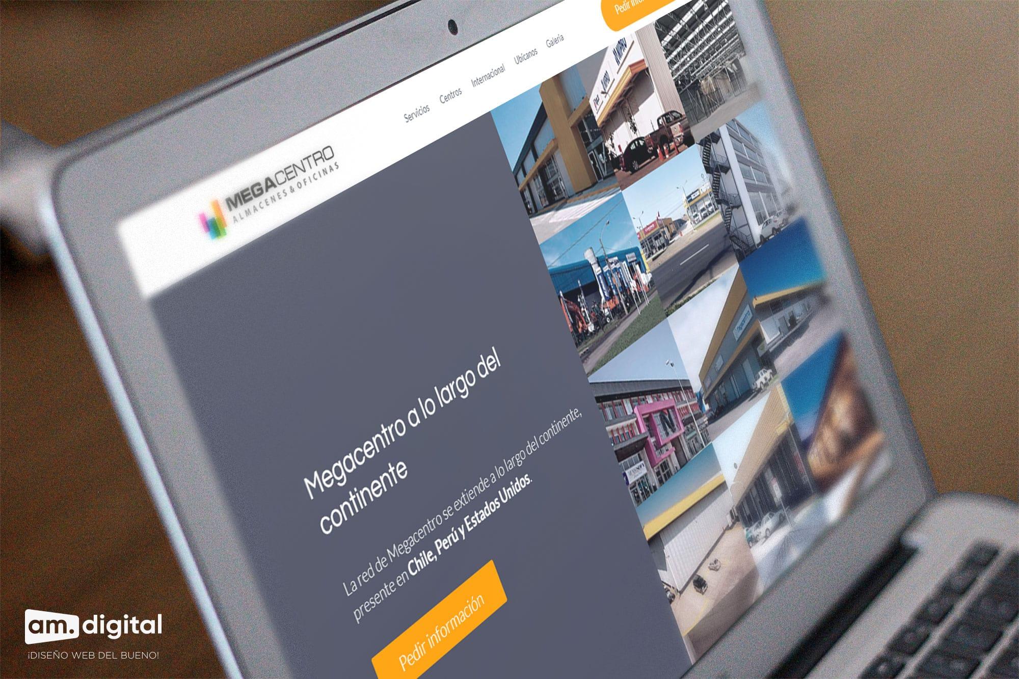 Creacion de pagina web empresarial para megacentro en Arequipa
