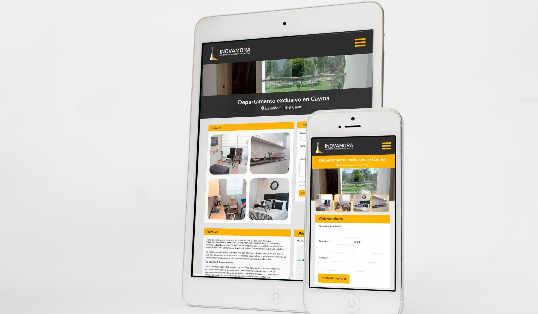 Diseño Web Responsive para Inmobiliaria en Arequipa - INOVAMORA