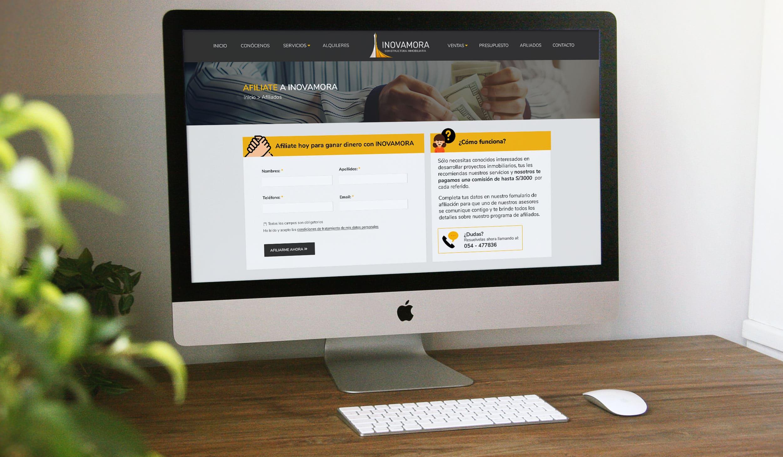 Página Web de la Inmobiliaria INOVAMORA desarrollada por AM DIGITAL