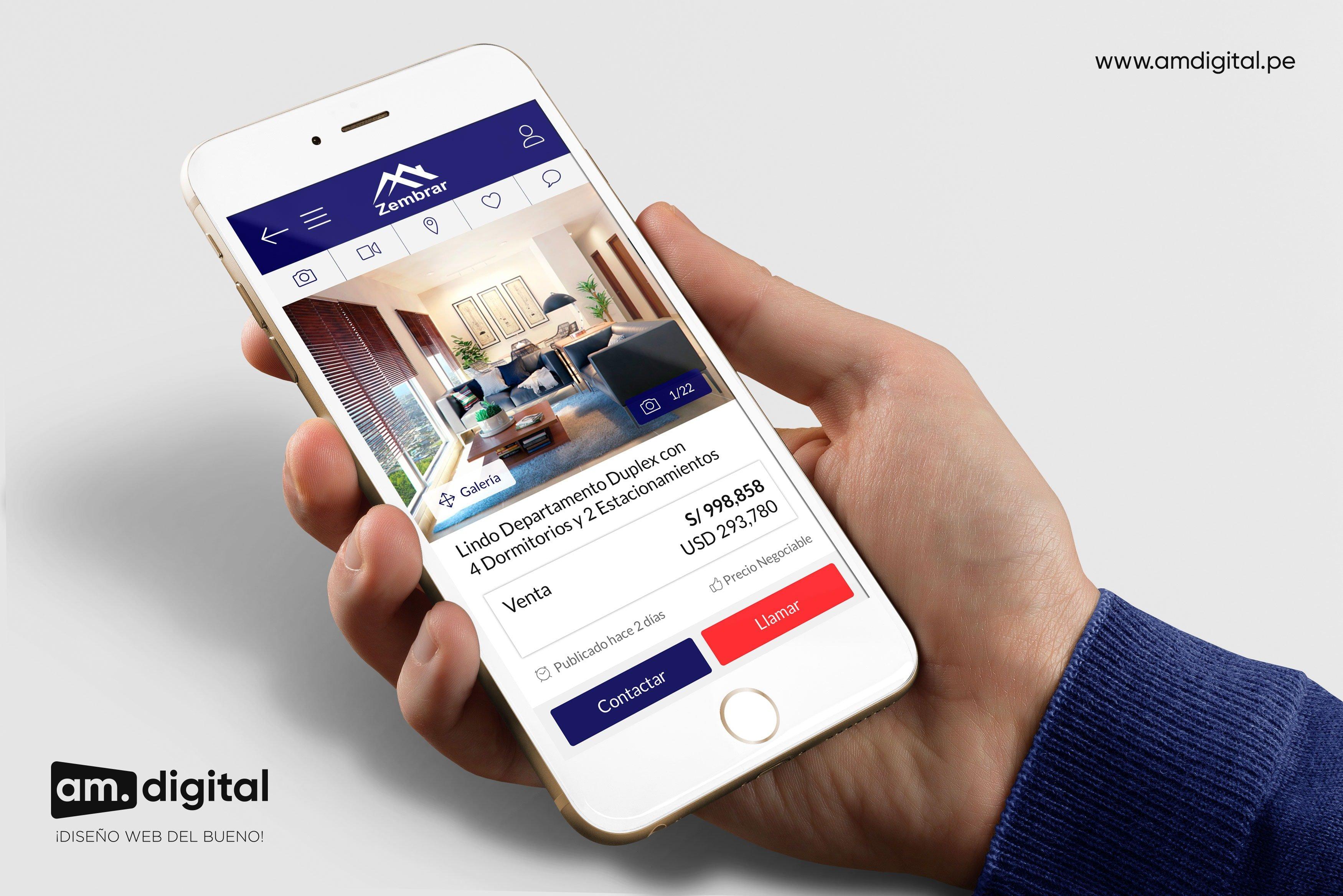 AM DIGITAL, Diseño de Página Web para Inmobiliaria Responsive