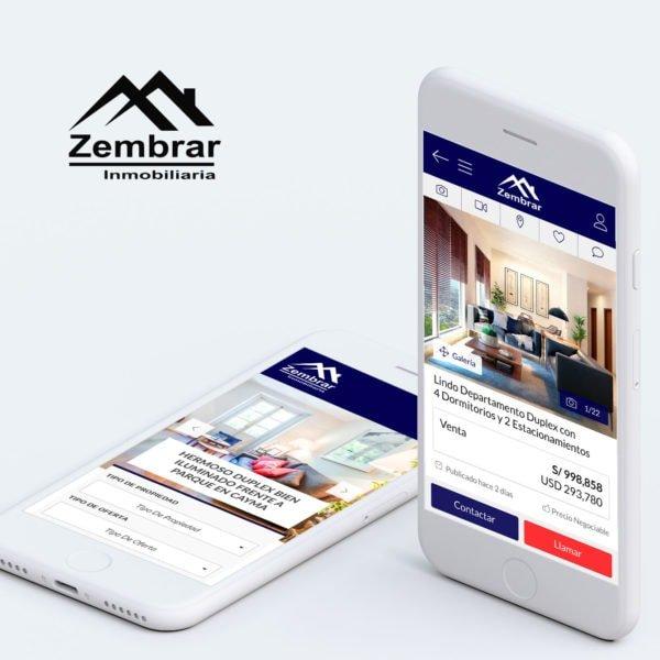 Diseño de Página Web para Zembrar Inmobliaria en Arequipa